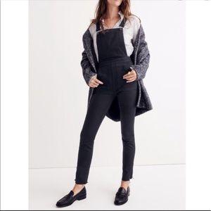 NWOT Madewell black skinny overalls